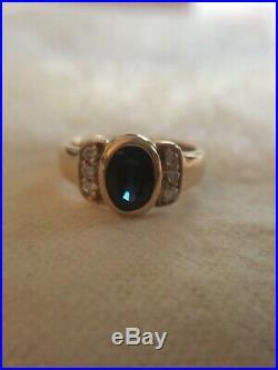 James Avery -Retired- Vintage 14K Sapphire and Diamond Ring- Beautiful