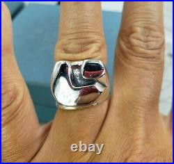 James Avery Retired Vintage Abstract Pac Man Ring Sz10 heavy Duty make