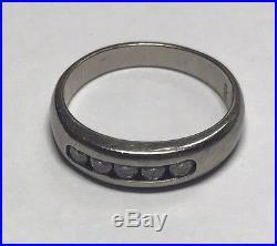 James Avery Retired White Gold 14k & Diamonds Debra Ring Sz. 4 H