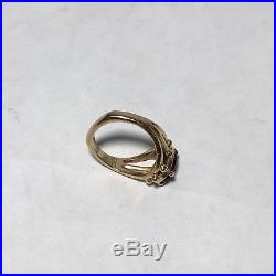 James Avery Ring 14K Yellow Gold Garnet Size 5.5