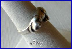 James Avery Ring Cat Sleeping Sz 6 1/2 Retired Rare Sterling 5 Grams Kitty Nap