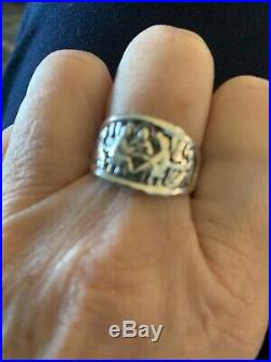 James Avery SS Last Supper Ring-Retired. Size 10. Good preowned condition