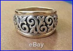 James Avery Scrolled Fleur-de-lis Sterling Silver & 14 Kt Gold Ring Size 9