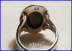 James Avery Silver and Copper Hammered Dome Ring Retired Size 9
