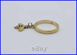 James Avery Solid 14k Yellow Gold Bee Charm Ring! Size 3.5