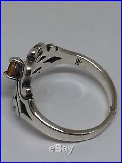James Avery Spanish Lace Ring with Citrine. Sterling Silver