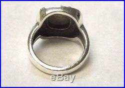 James Avery Square Beaded Ring 14k-925 Retired Size 6