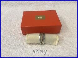 James Avery Stacked Hammered Sterling Silver &14k Gold Ring Size 8