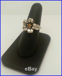 James Avery Sterling/18k April Flower Ring RARERETIRED