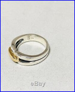 James Avery Sterling And 14k Gold Enduring Bond Ring Size 8