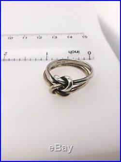 James Avery Sterling And 14k Yellow Gold Double Knot Ring Item # 11603