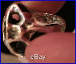James Avery Sterling Lost Wax Meteor Rock Modernist Ring-Size 6, Retired