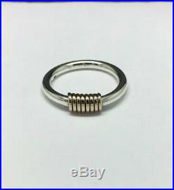 James Avery Sterling Silver/14K Yellow Gold Ring Size 8