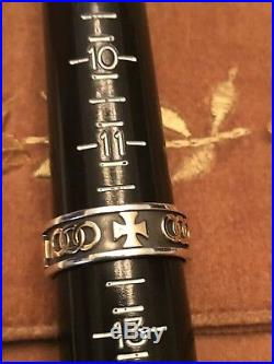 James Avery Sterling Silver & 14k Gold Pattee Cross Wedding Band Ring Size 12.0