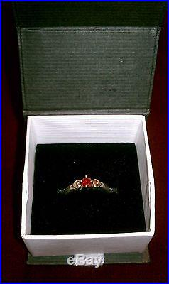 James Avery Sterling Silver & 14k Heart Ring With Garnet