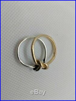 James Avery Sterling Silver 14k Yellow Gold Original Lovers' Knot Ring Size 9
