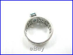James Avery Sterling Silver 925 Adoree Ring with Blue Topaz Size 9 JA06
