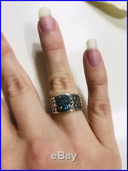 James Avery Sterling Silver Adoree Ring With Blue Topaz Sz 5