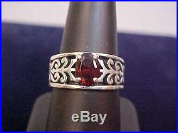 James Avery Sterling Silver Adoree Ring withGarnet NICELOOK