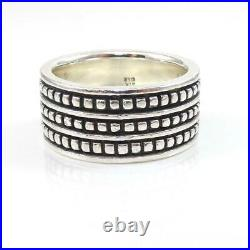 James Avery Sterling Silver African Bead Ball Eternity Band Ring Size 8 LHG5