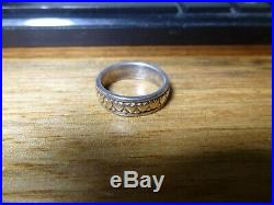 James Avery Sterling Silver And 14K Gold Heart Ring Band Size 6