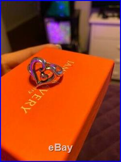 James Avery Sterling Silver And 14K Gold Joy Of My Heart Ring