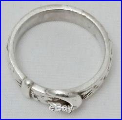 James Avery Sterling Silver Buckle Ring / Size 8 / 9.17 grams