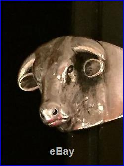 James Avery Sterling Silver Bull Ring-Size 8 Taurus Ranch CattleRetired