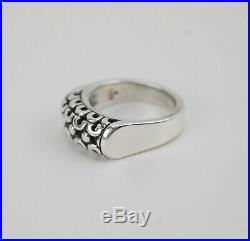 James Avery Sterling Silver CARVED Ring Size 7 Retired