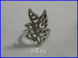 James Avery Sterling Silver Capistrano Open Work Dove Ring Size Shown in Pics