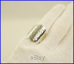 James Avery Sterling Silver HAMMERED OVAL Ring 13.3g Size 8.5 Retiring