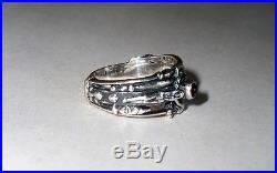 James Avery Sterling Silver Martin Luther Garnet Ring size 7.5