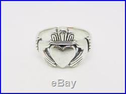 James Avery Sterling Silver Retired Claddagh Ring Size 8.5 Rare Lb-c0863