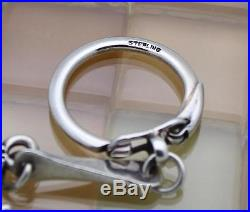 James Avery Sterling Silver Saint Christopher Key Ring, 42.7 Grams. RETIRED