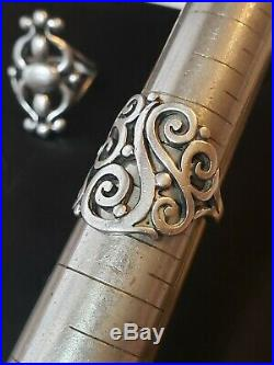 James Avery Sterling Silver Sorrento Scroll Ring Size 9 Exc Condition