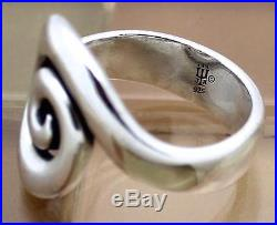 James Avery Sterling Silver Spiral Swirl Ring Size 7.5, 7.2 Grams RETIRED