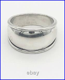 James Avery Sterling Silver Tapered Dome Signet Ring Size 10.5, 17/32 Wide