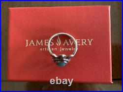James Avery Sterling Silver Turquoise Turtle Ring, size 9, Excellent Condition