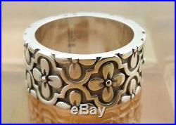 James Avery Sterling Silver Wide Flower Ring Size 3.5, 3/8 Wide, 7G, RETIRED
