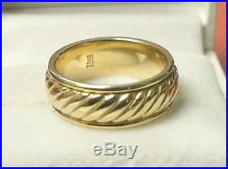 James Avery Wedding Ring Band 14K Yellow Gold Size 8 Retired
