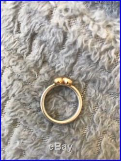 James Avery retired 14k & Sterling Silver Heart Ring