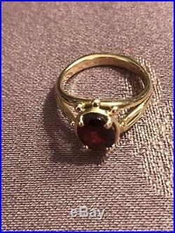 James Avery ring GARNET 14k Gold Beautiful Design! Comfortable! Grams 4.7 Sz 6