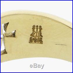 James avery / 14k gold narrow crosslet / ring 7