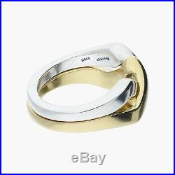 James avery / sterling silver & 14k gold puzzle / ring 7.75