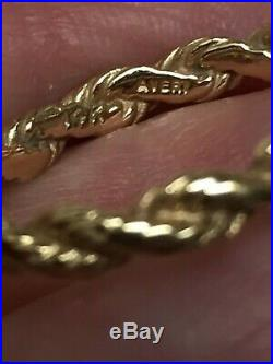 Lot Of 2 Retired James Avery 14k Yellow Gold Rope Twisted Bands Rings Appr 4.75
