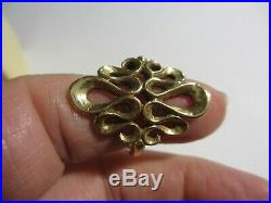 Magnificent Mib Rare James Avery Solid 14k Yg Large Scroll Ring-9 Grams-size 7.5