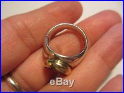Magnificent Retired James Avery Sterling&14k Yg Huge Garnet Ring-size 6 1/2-nr