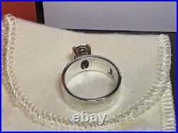 NEW James Avery Julietta 925 Sterling Silver 14K Y-Gold Blue Topaz Ring Sz 6.5