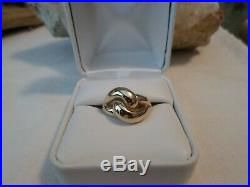 RARE James Avery 14k Yellow Gold Cadena Knot Ring Sz 7