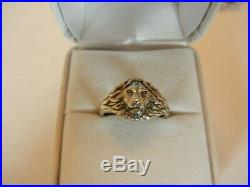 RARE James Avery Sterling Silver LION RING Size 6 LEO COURAGE Retired VGUC Box